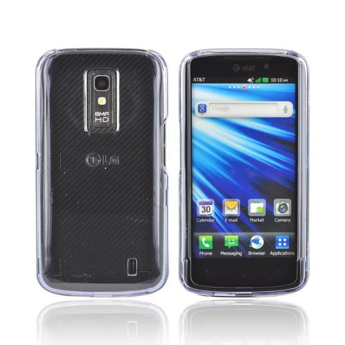 LG Nitro HD Hard Case - Transparent Smoke