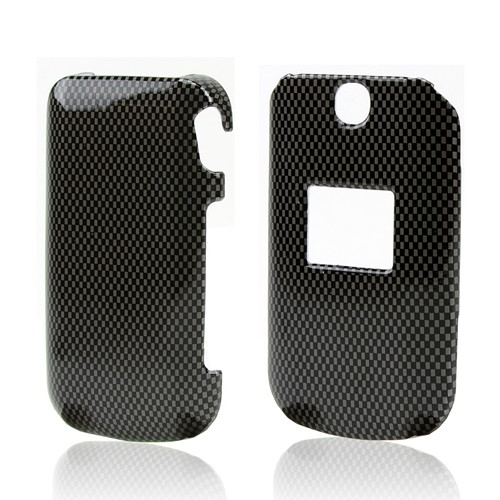 Black/ Gray Carbon Fiber Design Hard Case for LG Revere/ LG Revere 2