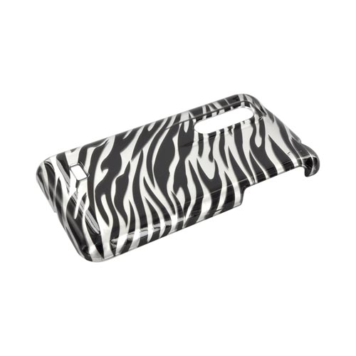 LG Thrill 4G Hard Case - Silver/ Black Zebra