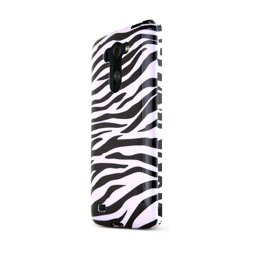 LG G Vista Case,  [White Zebra]  Slim & Protective Crystal Glossy Snap-on Hard Polycarbonate Plastic Case Cover