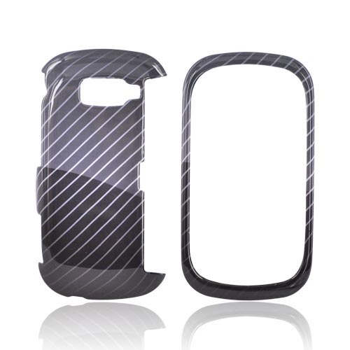 LG Octane VN530 Hard Case - Lines on Black/Gray