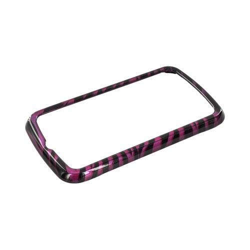 LG Enlighten VS700 Hard Case - Purple/ Black Zebra