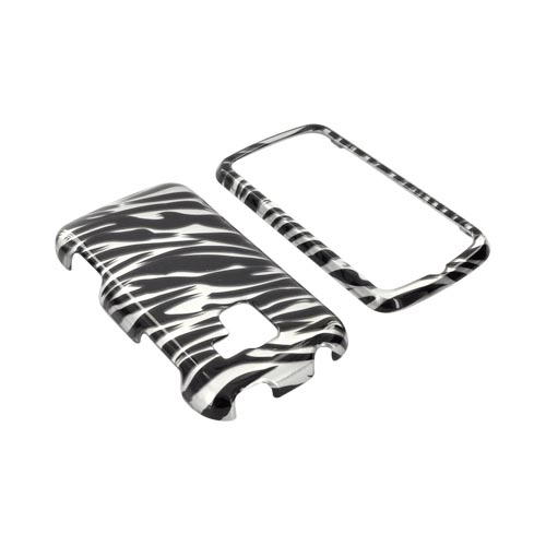 LG Enlighten VS700 Hard Case - Black/ Silver Zebra