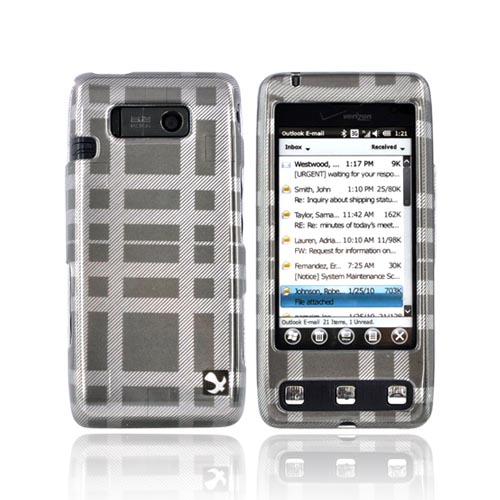 LG Fathom VS750 Hard Case - Checkered Gray