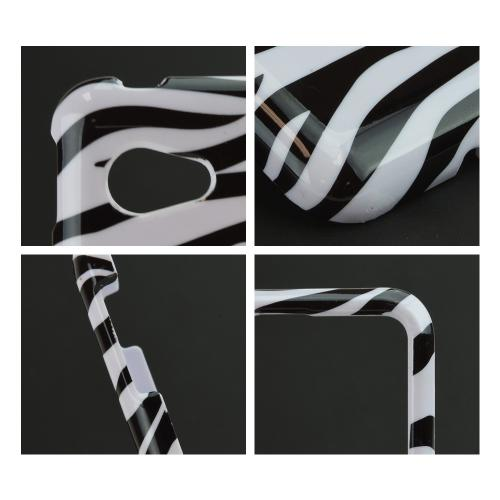 Black Zebra on White Hard Case for LG Enact