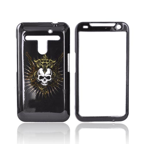 LG Revolution, LG Esteem Hard Case - Skull & Cross on Black
