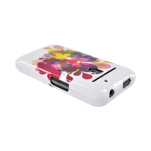 LG Revolution, LG Esteem Hard Case - Colorful Water Flowers on White