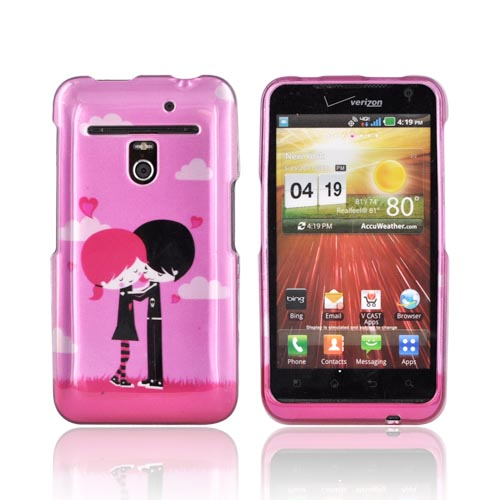 LG Revolution, LG Esteem Hard Case - Pink Emo Love