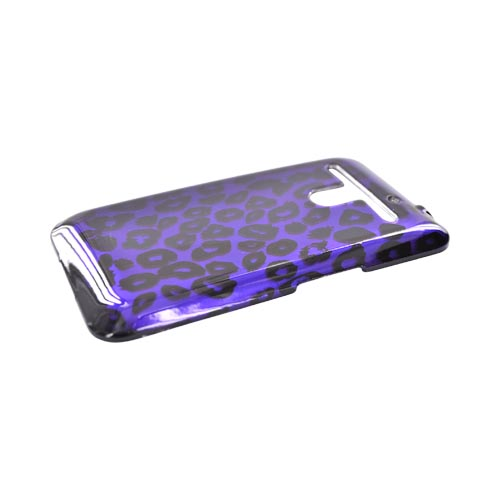 LG Revolution, LG Esteem Hard Case - Black Leopard on Purple