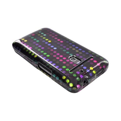 LG Revolution, LG Esteem Hard Case - Rainbow Falling Dots on Black
