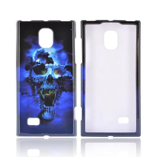 LG Spectrum 2 Hard Case - Blue Skull