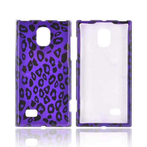 LG Spectrum 2 Hard Case - Purple/ Black Leopard