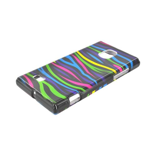 LG Spectrum 2 Hard Case - Rainbow Zebra