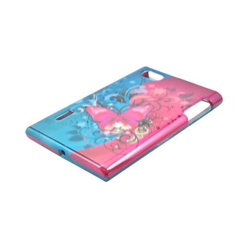 LG Intuition VS950 Hard Case - Hot Pink Butterfly Bliss