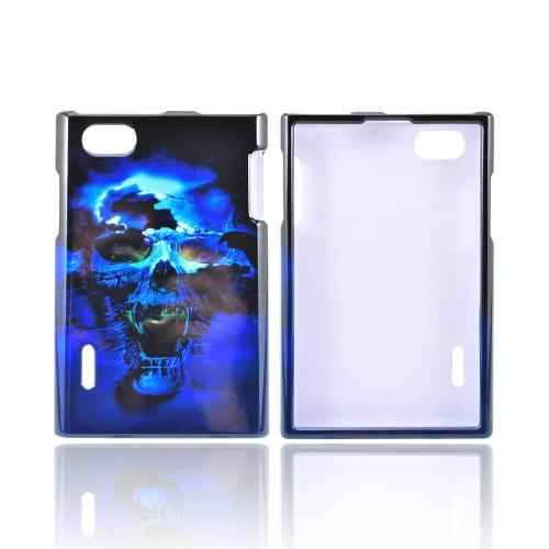 LG Intuition VS950 Hard Case - Blue Skull