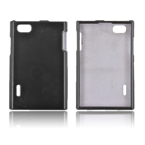 LG Optimus Vu VS950 Hard Case - Black/ Gray Carbon Fiber Design