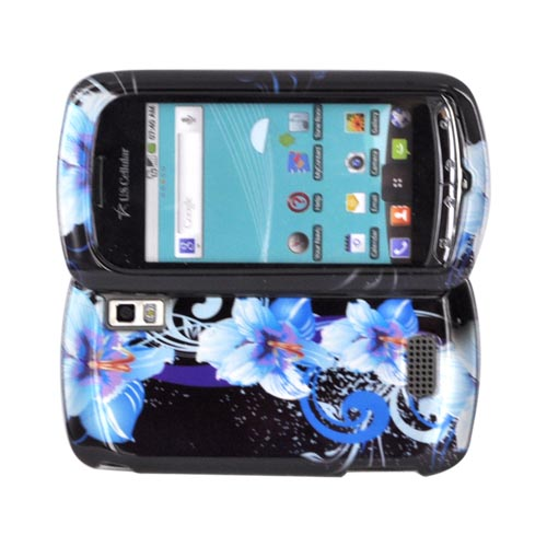LG Genesis VS760 Hard Case - Blue Flowers on Black