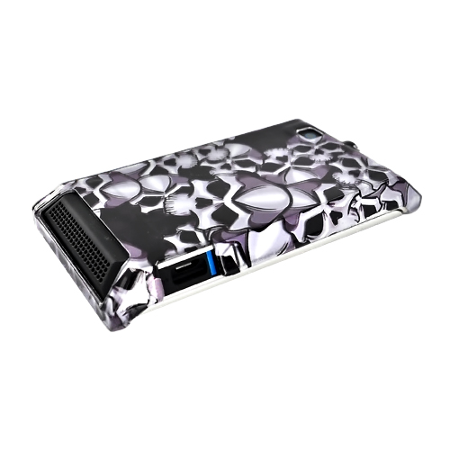 Motorola Devour A555 Hard Back Cover Case - Skulls