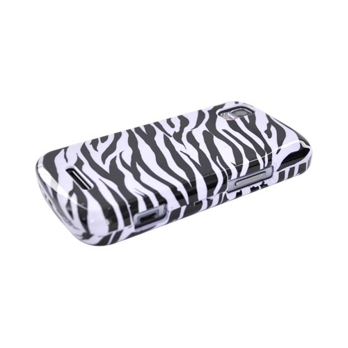 Motorola Droid Pro A957 Hard Case - Black/White Zebra