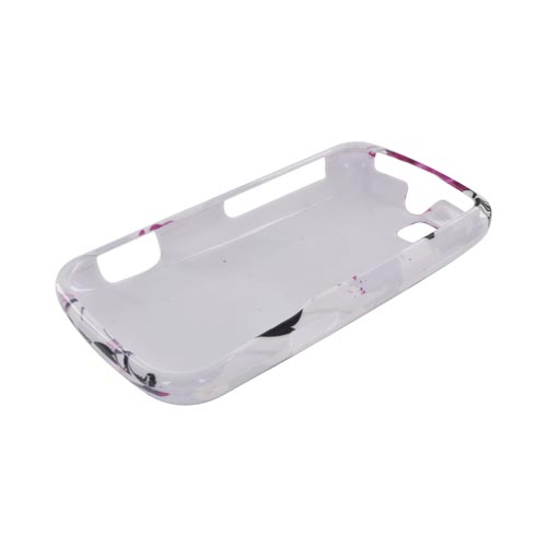 Motorola Admiral Hard Case - Pink Flowers on White