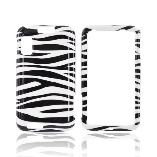 Motorola Atrix 4G Hard Case - Black/White Zebra