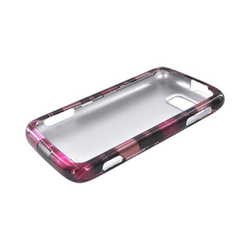 Motorola Atrix 2 Hard Case - Plaid Pattern of Pink, Hot Pink, Brown, & Gray