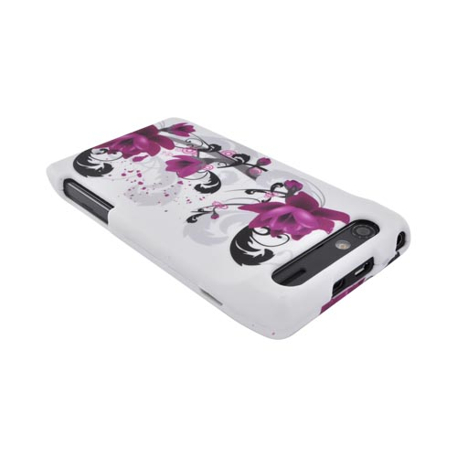 Motorola Droid RAZR Hard Case - Pink Flowers on White