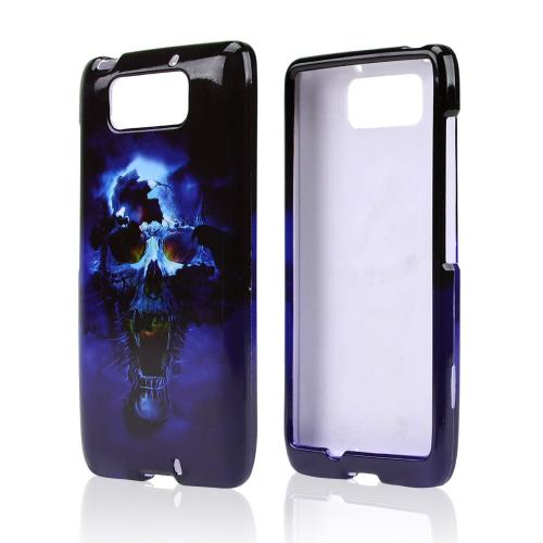 Blue Skull Hard Case for Motorola Droid Ultra/ Droid MAXX