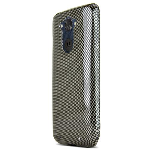 Motorola Droid Turbo Protective Slim Hard Case Cover [Carbon Fiber Design] [Ultra Slim and Perfect Fitting Motorola Droid Turbo (2014) Case]