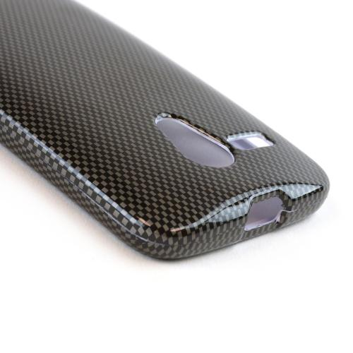 Black/ Grey Carbon Fiber Design Hard Case for Motorola Moto G