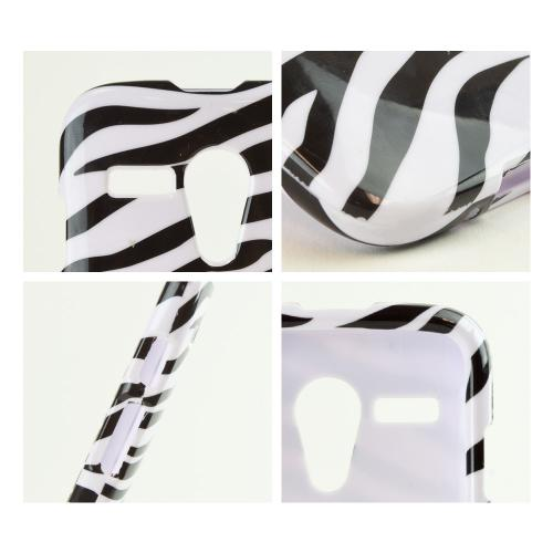 Black Zebra on White Hard Case for Motorola Moto G