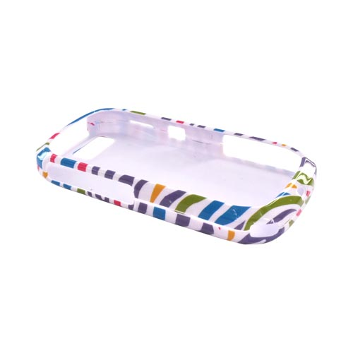 Talon Motorola i1 Hard Case - Colorful Zebra on White
