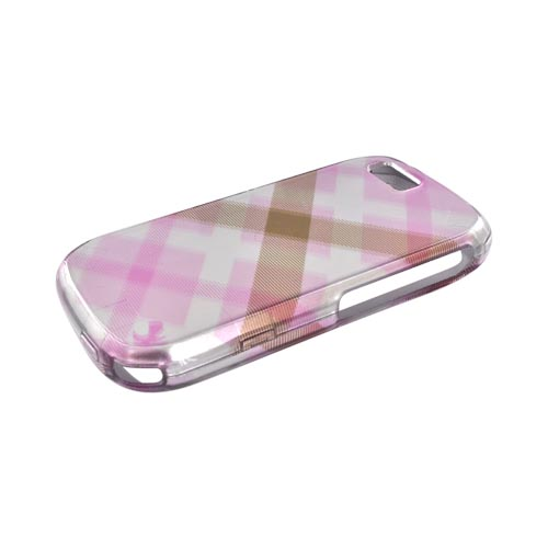 Luxmo Motorola i1 Hard Case - Pastel Pink/Silver Checkered Pattern