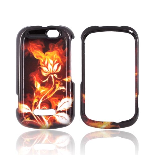Motorola Clutch+ i475 Hard Case - Flaming Rose on Black