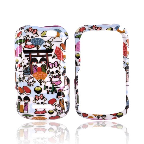 Motorola Clutch+ i475 Hard Case - Kawaii Baby Skull Design on White
