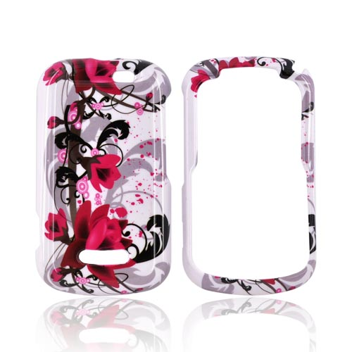 Motorola Clutch+ i475 Hard Case - Pink Flowers on White