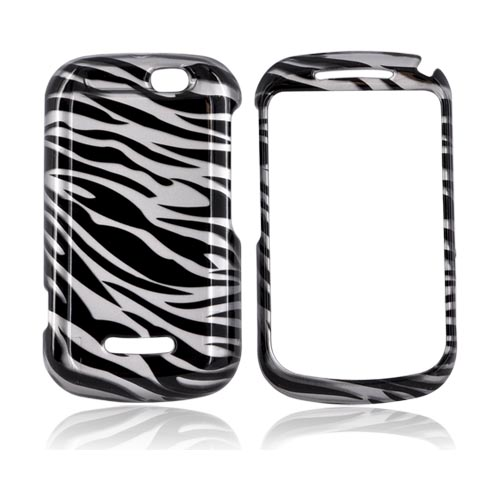 Motorola Clutch+ i475 Hard Case - Black/ Silver Zebra