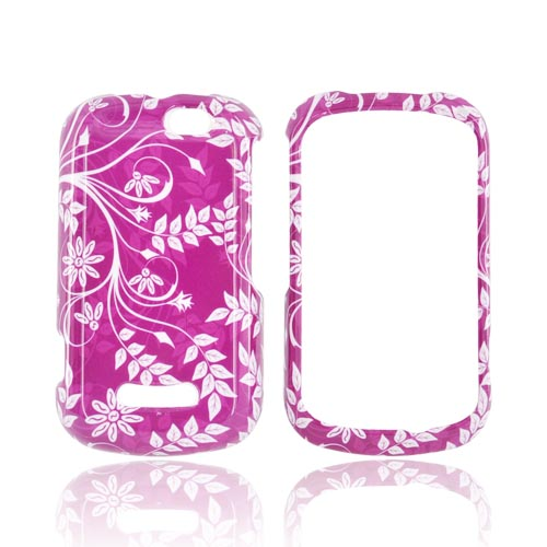 Motorola Clutch+ i475 Hard Case - White Vines on Magenta