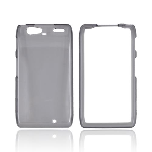 Motorola Droid RAZR MAXX Hard Case - Transparent Smoke