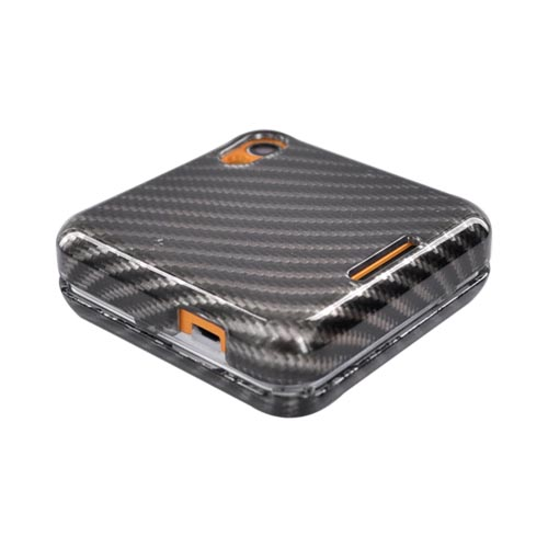 Motorola Flip Out MB511 Hard Case - Carbon Fiber Design