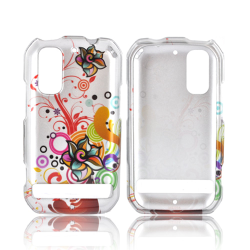 Motorola Photon 4G Hard Case - Autumn Floral Burst on Silver