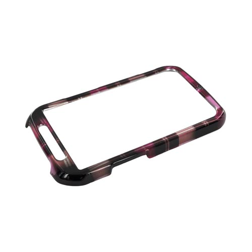 Motorola Photon 4G Hard Case - Plaid Pattern of Pink, Hot Pink, Brown, & Gray