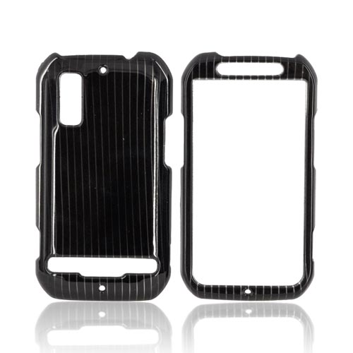 Motorola Photon 4G Hard Case - Silver Lines on Black