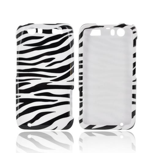 Motorola Atrix HD Hard Case - Black/ White Zebra