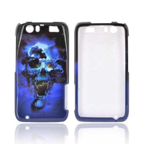 Motorola Atrix HD Hard Case - Blue Skull