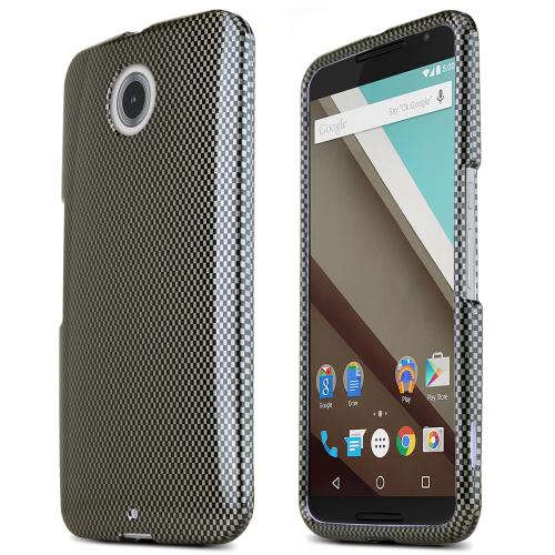 Motorola Nexus 6 Protective Slim Hard Case Cover [Carbon Fiber Design] [Ultra Slim and Perfect Fitting Motorola Nexus 6 Case]