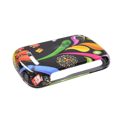Motorola QX404 Hard Case - Colorful Art on Black