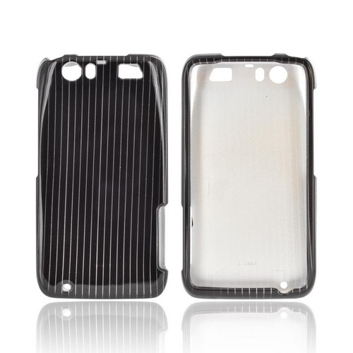Motorola Atrix HD Hard Case - Silver Lines on Black