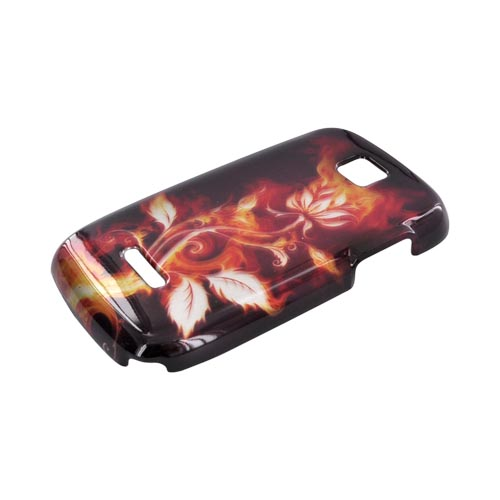 Motorola Theory Hard Case - Flaming Rose on Black