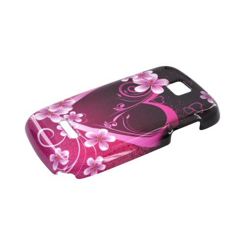 Motorola Theory Hard Case - Hot Pink/ Purple Flowers & Hearts